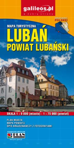 Powiat lubański - Lubań - widok mapy papierowej