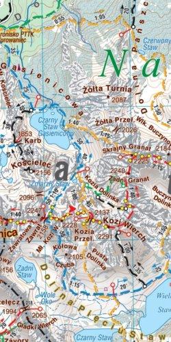 Podhale - Tatry, Orawa, Spisz - widok mapy papierowej