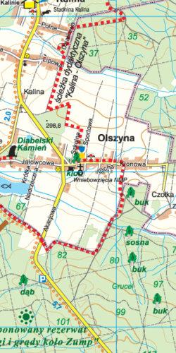 Lasy nad Górną Liswartą - widok mapy papierowej