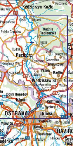 Powiat Raciborski dla aktywnych - widok mapy papierowej