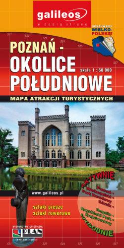 Poznań - okolice południowe - widok mapy papierowej