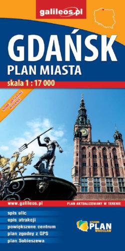 Front okładki Gdańsk – plan miasta
