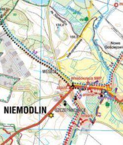 Bory Niemodlińskie - widok mapy papierowej