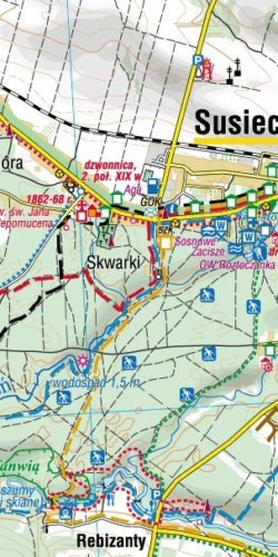 Roztocze Środkowe - widok mapy papierowej
