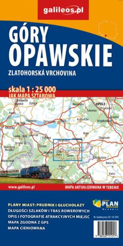 Góry Opawskie - mapa - widok mapy papierowej