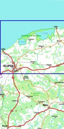 Wybrzeże Słowińskie - widok mapy papierowej