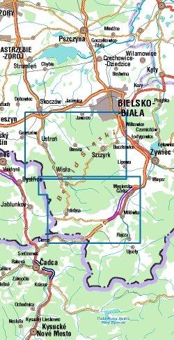 Beskid Śląski - widok mapy papierowej