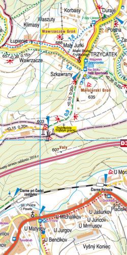 Istebna, Milówka – Rajcza, Węgierska Górka - widok mapy papierowej