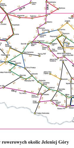 Jelenia Góra i okolice mapa rowerowa - widok mapy papierowej