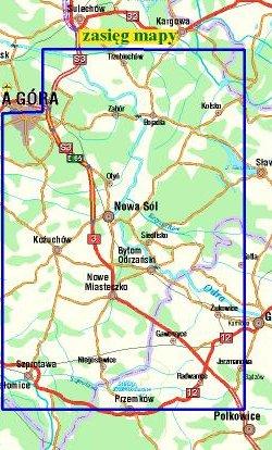 Powiat nowosolski - widok mapy papierowej