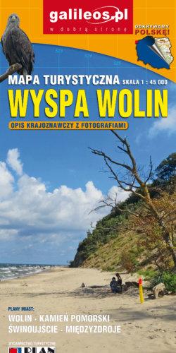 Wyspa Wolin - widok mapy papierowej