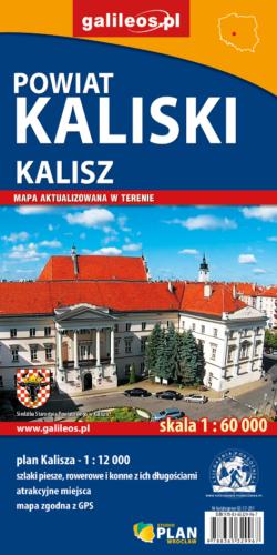 Kalisz i powiat kaliski - widok mapy papierowej