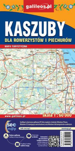 Kaszuby dla rowerzystów i piechurów - widok mapy papierowej