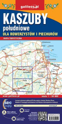 Kaszuby południowe dla rowerzystów i piechurów - widok mapy papierowej
