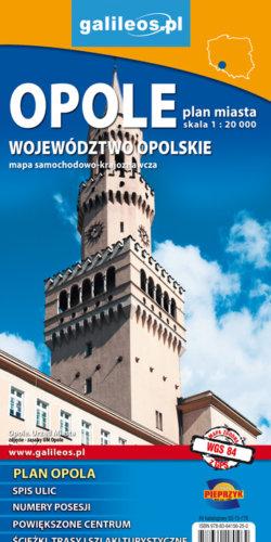 Front okładki Opole plan i województwo opolskie