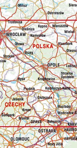Opole - plan miasta - widok mapy papierowej