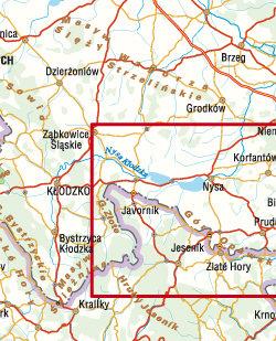 Powiat Nyski - mapa - widok mapy papierowej