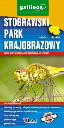 Stobrawski Park Krajobrazowy - widok mapy papierowej