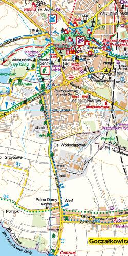Tychy, Pszczyna i okolice dla aktywnych - widok mapy papierowej