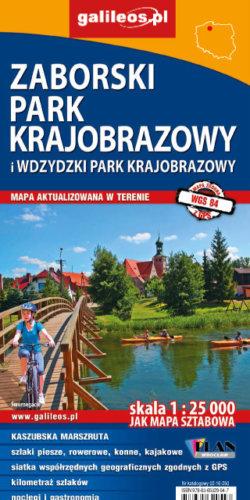Wdzydzki Park Krajobrazowy i Zaborski Park Krajobrazowy - widok mapy papierowej