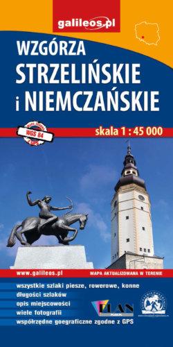 Front okładki Wzgórza Strzelińskie i Niemczańskie