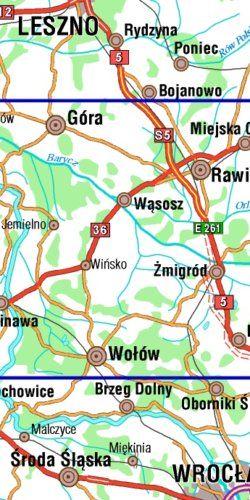 Dolina Baryczy część zachodnia - widok mapy papierowej