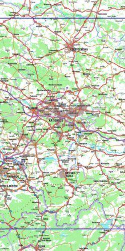 Śląskie szlaki tematyczne - widok mapy papierowej