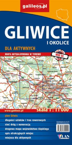 Gliwice i okolice dla aktywnych II.2016 - widok mapy papierowej