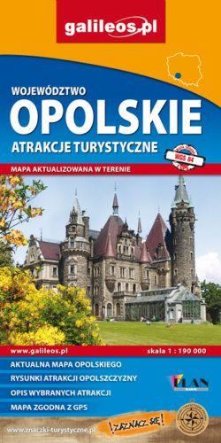 Front okładki Województwo opolskie – mapa atrakcji turystycznych
