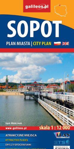 Front okładki Sopot – plan miasta