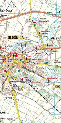 Powiat oleśnicki dla aktywnych - widok mapy papierowej