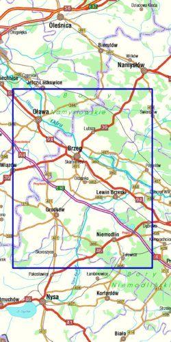 Powiat brzeski dla aktywnych - widok mapy papierowej