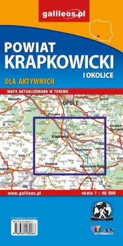 Powiat krapkowicki – mapa - widok mapy papierowej
