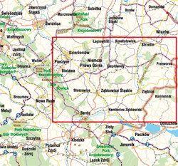 Przedgórze Sudeckie - widok mapy papierowej