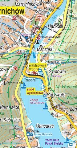 Szczyrk, Żywiec i okolice - widok mapy papierowej