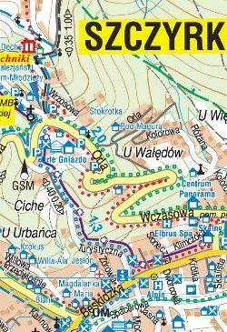 Wokół Skrzycznego - Beskid Śląski - widok mapy papierowej