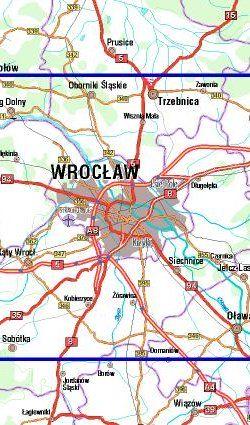 Wokół Wrocławia - widok mapy papierowej