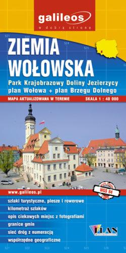 Ziemia Wołowska - widok mapy papierowej