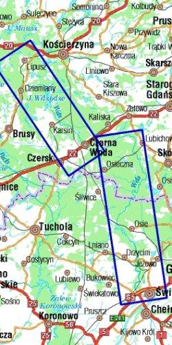 Wda - mapa kajakowa - widok mapy papierowej