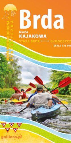 Brda - mapa kajakowa - widok mapy papierowej