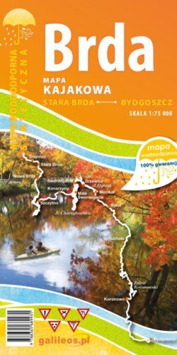 Front okładki Brda – mapa kajakowa