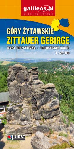 Front okładki Góry Żytawskie/Zittauer Gebirge – mapa turystyczna