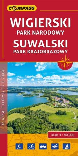 Wigierski Park Narodowy, Suwalski Park Krajobrazowy - widok mapy papierowej