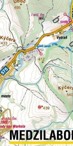 Bieszczadzkie pogranicze - widok mapy papierowej
