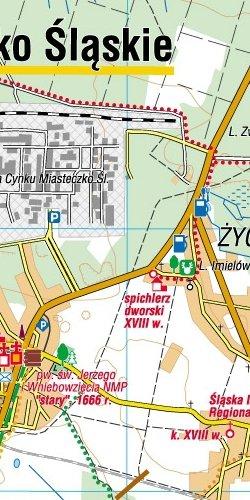 Wyżyna Śląska - widok mapy papierowej
