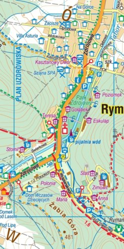 Iwonicz-Zdrój, Rymanów-Zdrój i okolice - widok mapy papierowej