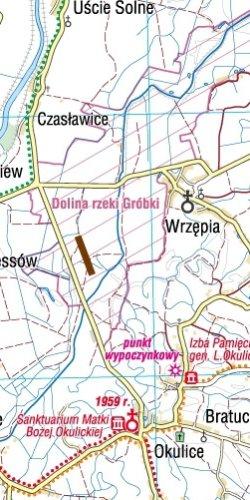 Małopolska Północna - widok mapy papierowej