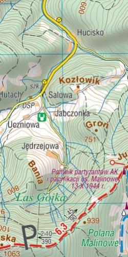 Beskid makowski (średni) - widok mapy papierowej