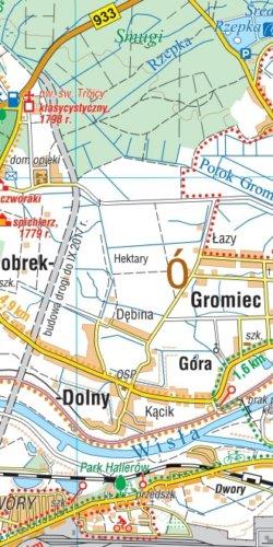 Ziemia Oświęcimska. Dolina Karpia - widok mapy papierowej