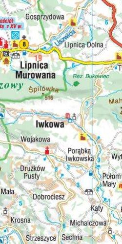 Małopolska 101 atrakcji turystycznych - widok mapy papierowej